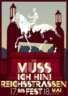 Apfel Zeit, Reichstrassenfest Berlin 2003 – Veranstaltungsplakat