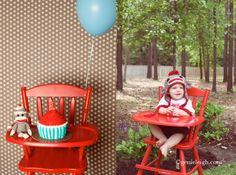 Sock Monkey Birthday Party - Turning one