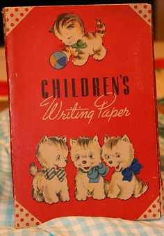 Vintage Childs Writing Paper