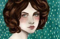 Sofia Bonati, Canvas Paper, Watercolor And Ink, Disney Characters, Fictional Characters, Disney Princess, Illustration, Art Art, Collage