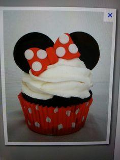 Cutest little cupcake ever! #minniemouse