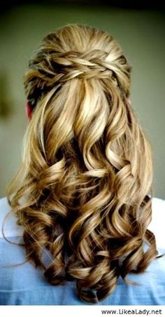 Bride-s-braided-half-up-waterfall-wedding-hairstyle by mar_ja