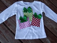 "Girls Christmas gift boxes ""WHImSICAL TREeS"" white tee shirt available in size mth. Christmas Gifts For Girls, Christmas Gift Box, Christmas Sewing, Christmas Crafts, Xmas, Diy Ugly Christmas Sweater, Christmas Shirts, Christmas Outfits, White Tee Shirts"