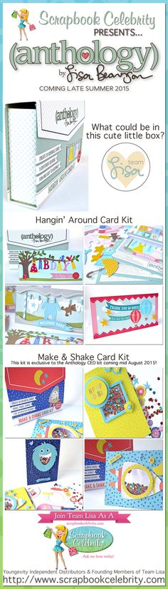In this day of emails and electronic communication there's nothing better than opening the mailbox to find a handmade card! Anthology by Lisa Bearnson is making it even easier to create cards to send for a variety of occasions.