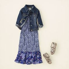 girl - outfits - new blue maxi | Children's Clothing | Kids Clothes | The Children's Place