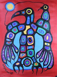 48 x 35 Thunderbird 1976 Native Canadian, Canadian Artists, South American Art, Native American, Woodlands School, Aboriginal Art, Stained Glass Art, Native Art, First Nations