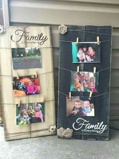 Cute idea to hang in your house. You could also do one for Teens and write friends so they can hang pictures of their friends. - Diy Home Crafts Pallet Crafts, Wooden Crafts, Pallet Projects, Craft Projects, Craft Ideas, Easy Wood Projects, Project Ideas, Decorating Ideas, Decor Ideas