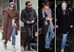 Nadszedł czas na szaliki, które dodają charakteru każdej stylizacji. Można zdecydować się na te lekkie i eleganckie lub długie szale z grubej wełny. Ważny jest również sposób wiązania. Który pan wygląda najbardziej stylowo: Lenny Kravitz, Jake Gyllenhaal, Johnny Depp czy George Clooney? Lenny Kravitz, Jake Gyllenhaal, George Clooney, Johnny Depp