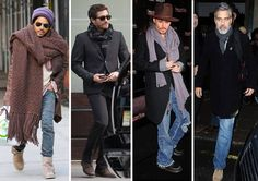 Nadszedł czas na szaliki, które dodają charakteru każdej stylizacji. Można zdecydować się na te lekkie i eleganckie lub długie szale z grubej wełny. Ważny jest również sposób wiązania. Który pan wygląda najbardziej stylowo: Lenny Kravitz, Jake Gyllenhaal, Johnny Depp czy George Clooney?