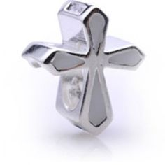 Silver White Cross Symbol Enamel Beads Charms   Fit pandora,trollbeads,chamilia,biagi and any customized bracelet/necklaces. #Jewelry #Fashion #Silver# handcraft #DIY #Accessory