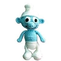 Free pattern of a crochet smurf!.