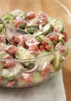 This delicious Dilled Cucumber Salad recipe is easy to make and is ready to enjoy in just 15 minutes flat!