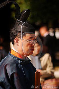 Shinto priest, Tokyo, Japan
