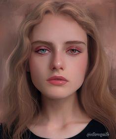 Portrait made in procreate Digital Art Girl, Digital Portrait, Portrait Art, Cute Girl Drawing, Female Character Inspiration, Beautiful Fantasy Art, Character Portraits, Anime Art Girl, Face Art