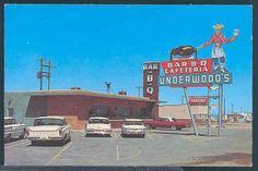 TX, Lubbock, Texas, Underwood's Bar BQ,Neon Sign, Dexter