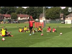 Liverpool FC Shooting practice in training - YouTube