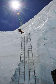 Mark coming down the icefall Rock Climbing Gear, Ice Climbing, Mountain Climbing, Mountain Biking, Tibet, Monte Everest, Everest Base Camp Trek, Nepal Trekking, Bungee Jumping