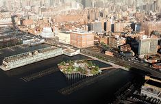 The park (in a rendering) is going up just north of the river's Pier 54 and adjacent to 13th Street.
