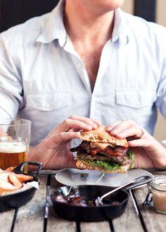 Garlic and ginger beef gourmet sandwich // photo by Katie Quinn Davies