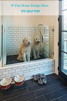 dog washing station in laundry room \ dog washing station in laundry room ; dog washing station in laundry room diy ; dog washing station in laundry room pets Dog Washing Station, Dog Station, Laundry Station, Dog Feeding Station, Dog Rooms, Rooms For Dogs, House Ideas, Dog Shower, Shower Floor