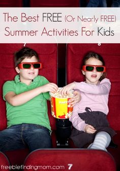 The Best Free (or Nearly Free) Summer Activities for Kids - Keep the kids busy and having fun this summer with free movies, bowling, crafts, and more.