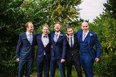 T M Lewin Blue Suit Groom Vintage Village Hall Geek DIY Wedding http://www.theimagegarden.co.uk/