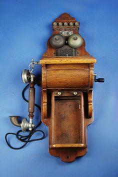 1917 Ericsson type B wall telephone.
