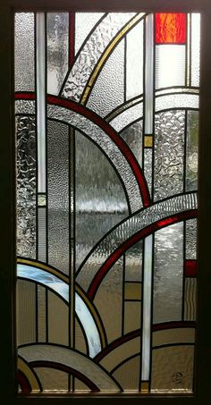 Modern Stained Glass, Stained Glass Door, Stained Glass Designs, Stained Glass Panels, Stained Glass Projects, Stained Glass Patterns, Leaded Glass, Mosaic Glass, L'art Du Vitrail