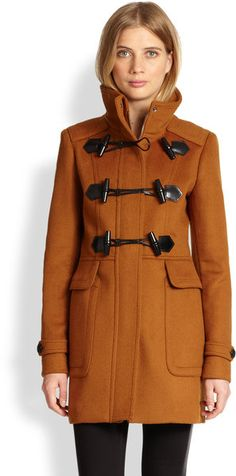 Burberry Brown Woolfelt Toggle Coat