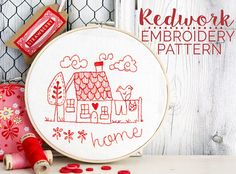 Redwork Embroidery pattern
