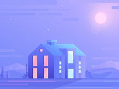 House / Landscape illustration by Walid Beno for Artnode on Dribbble House Illustration, Business Illustration, Landscape Illustration, Digital Illustration, Graphic Illustration, Vector Illustrations, Web Design, Graphic Design, Work Train