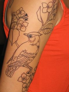if I were to get a tat. blue jay is where it is at. on pecan branches.