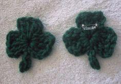 MY SHAMROCK PIN PATTERN - free crochet pattern