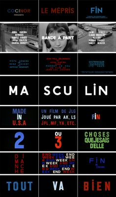 Jean-Luc Godard title design #art #typography #film