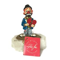 Retired Ron Lee Clown, Heartbroken Harry , Limited Edition Number Signed Collectible Clown Figurine