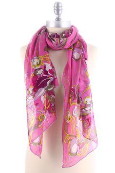 Silk Scarf In Rose.