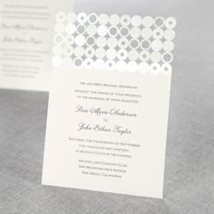 Circles & Dots Laser Cut by B Wedding Invitations