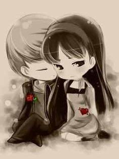 Love Cartoon Couple, Love Couple Images, Cute Love Images, Cute Cartoon Pictures, Cute Couple Art, Anime Love Couple, Emo Love Cartoon, Couple Pictures, Anime Couples Manga