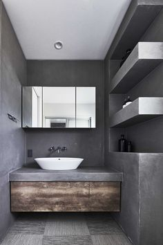 Staff Room, Grey Bathrooms, Washroom, Modern Bedroom, Powder Room, Room Inspiration, Toilet, House Design, Interior