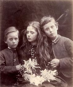 Julia Margaret Cameron: Not sure, but wonder if this is a photo of the Duckworth children, Stella and her brothers.