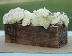 barn wood vase planter centerpiece