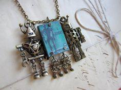 I Robot / Isaac Asimov Necklace by MiniatureLiterature on Etsy, $42.00