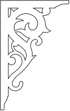 scroll saw projects free pattern Wood Carving Patterns, Carving Designs, Wood Patterns, Gable Decorations, House Decorations, Decorative Brackets, Jugendstil Design, Scroll Saw Patterns Free, Stencil Art