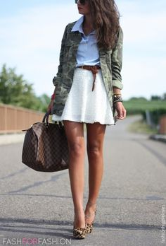 Camp jacket with skirt