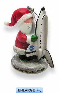 Santa Holding Shuttle Ornament from the NASA Shop Delicate, Santa, Seasons, Christmas Ornaments, Holiday Decor, Space Shuttle, Walt Disney, Home Decor, Noel