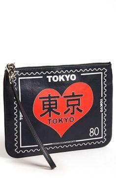 Gorgeous Tokyo print wristlet