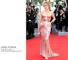 Jane Fonda in Atelier Versace at the Moonrise Kingdom premiere    photo: Valery Hache/ AFP/ Getty Images