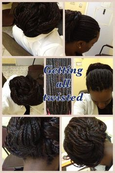 #twistedbun #haircare #relaxedhair #relaxedhair #protectivestyle #hairstyle