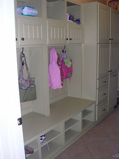 id love a mud room or storage like this in the laundry room next to the garage