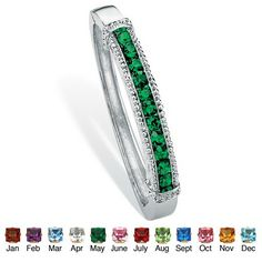 The popular hinged bangle bracelet is always high on everyone\'s list. This jewelry classic now showcases birthstones! APrice - $18-5d2BAayg